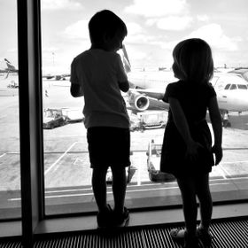 At the airport, I noticed the excitement of the children before the first flight. But getting to know each other distracted them for a while from...