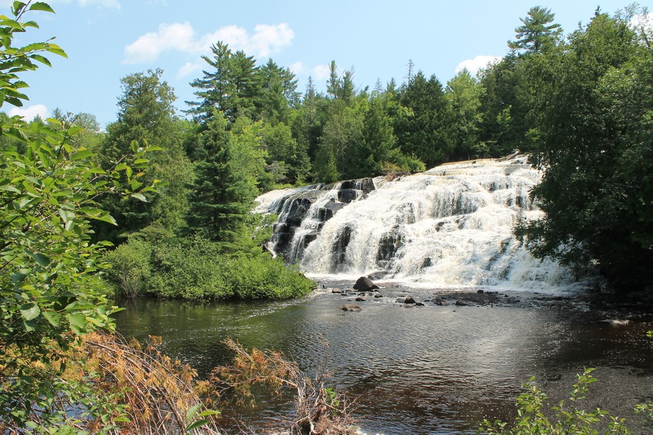 Spent the day hiking Bond Falls in July with my family.