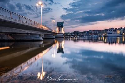 Schlei Bridge blue hour