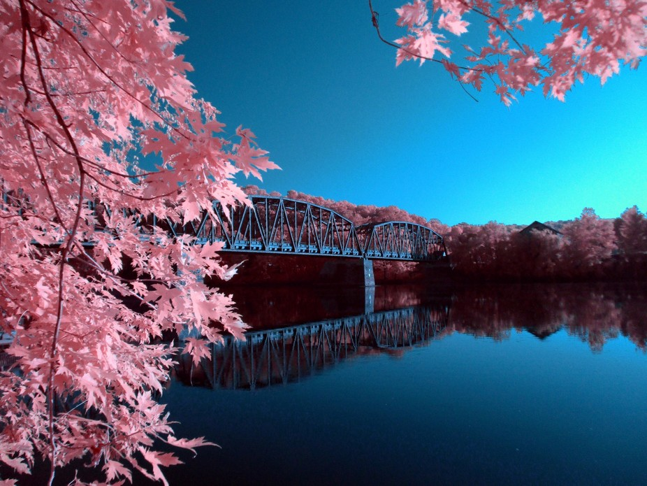 Pleasant bridge in a pleasant old town. I am experimenting with photography and infrared as an am...