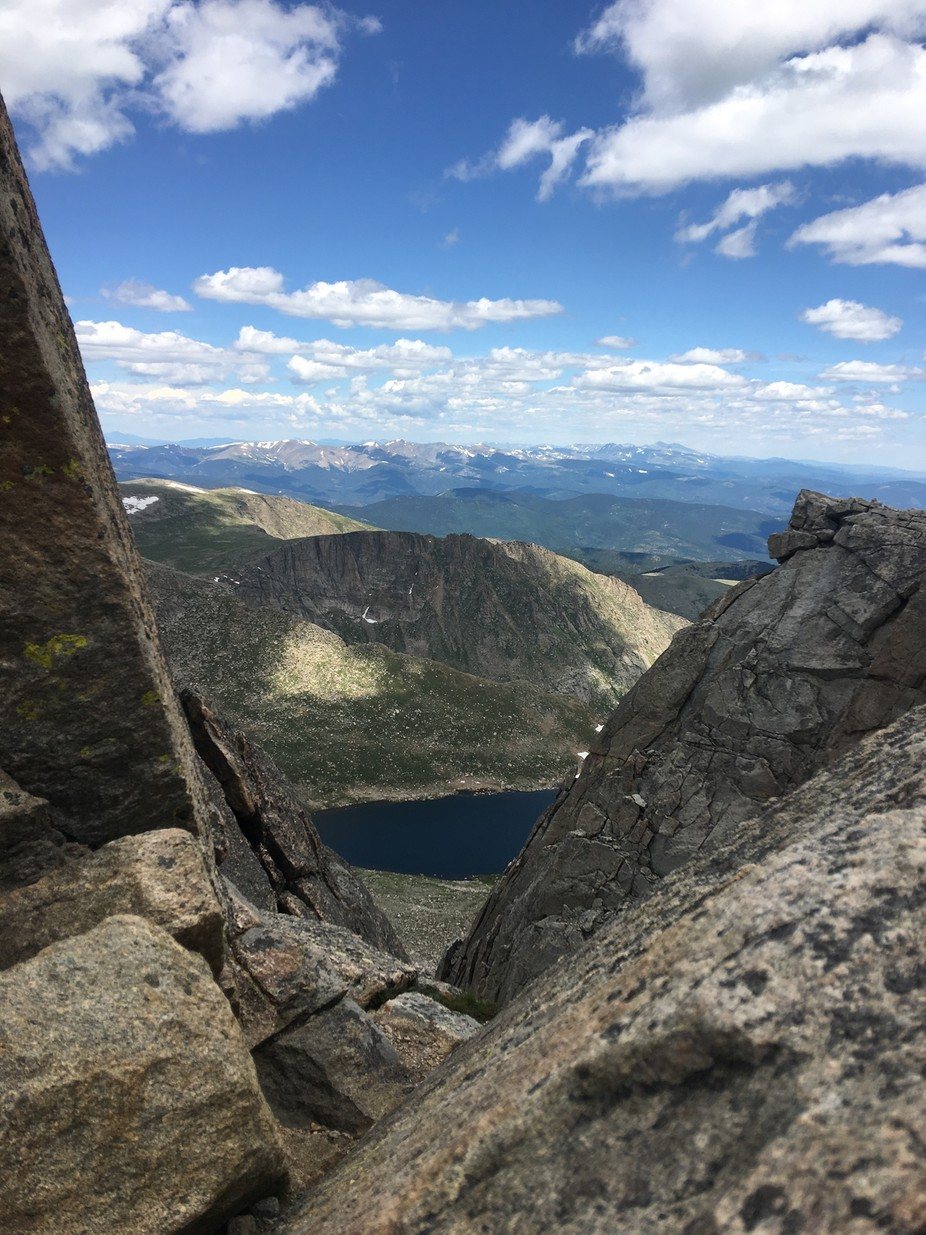 Mount Evans in Colorado over the summer