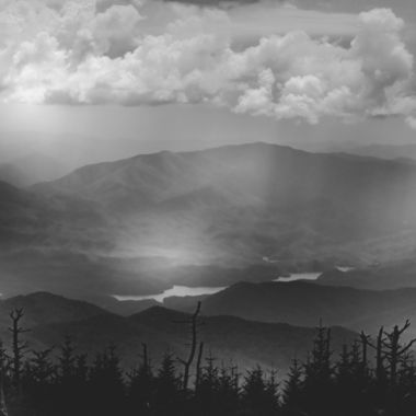 View from Clingmans Dome Smokey Mountains.