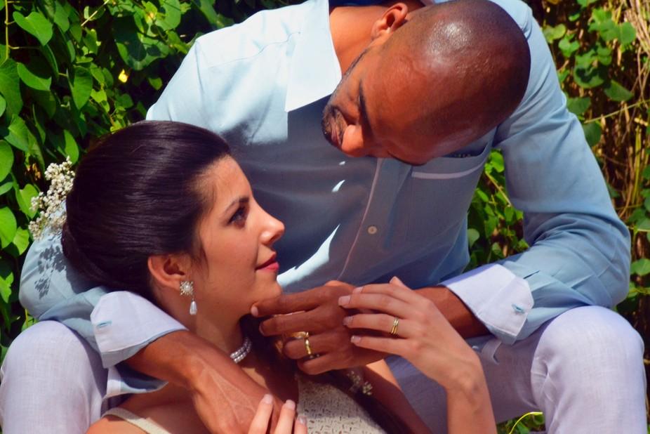 Instantánea tomada el dia de su boda