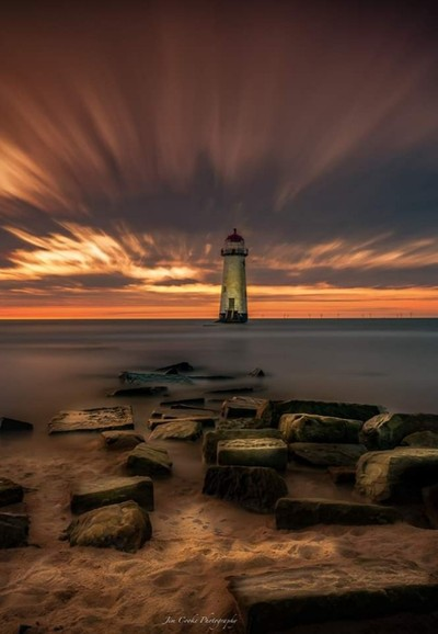 Sunset at Talacre