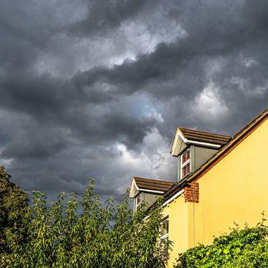 Storm clouds.