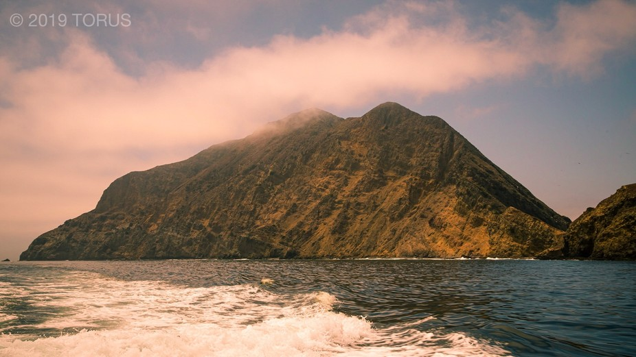 Anacapa Island with Clouds, Channel Islands National Park, California.