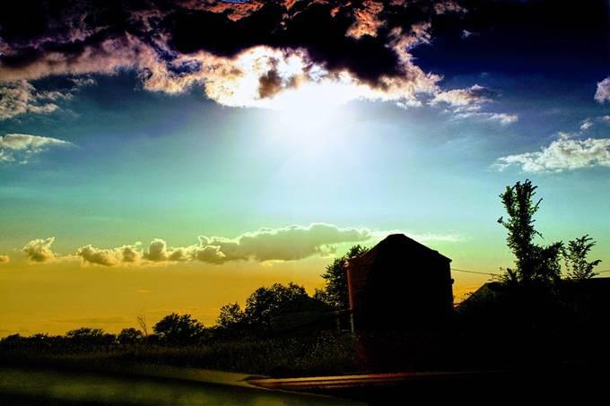 Afternoon suns gaze