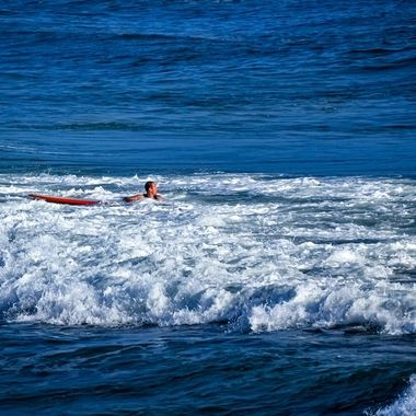 Surfer Looks Back at Wave NW