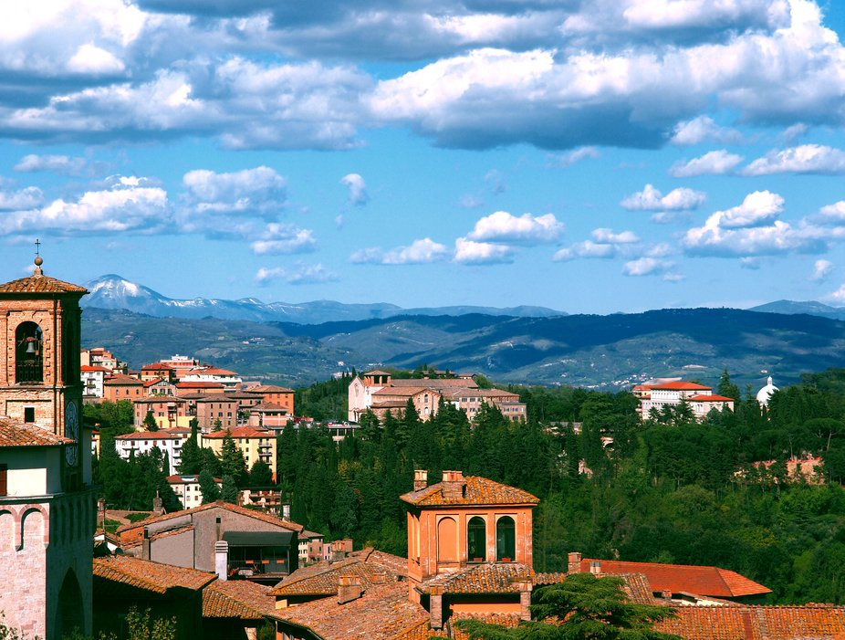I gathered this image looking northeast from the city of Perugia Italy in April of 2011. Perugia ...