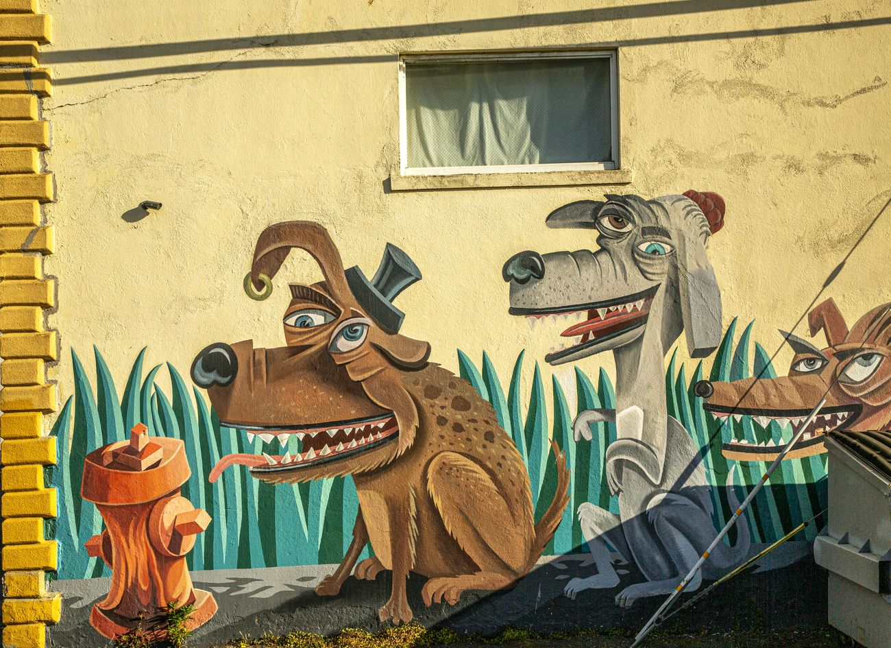 mural painted on a wall, Eureka, CA