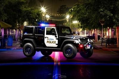 La Mesa Police Jeep promo vehicle taken on La Mesa Blvd. San Diego County, Ca.