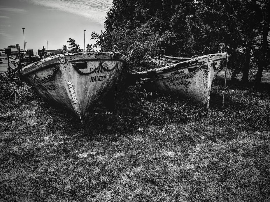 Life boats from a great lakes ship long since gone.