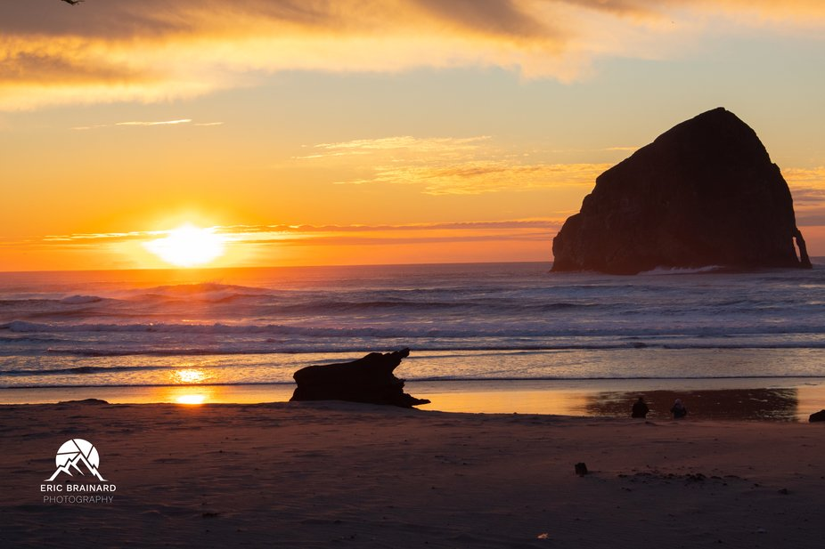 Sunset at the Beach in Pacific City Oregon