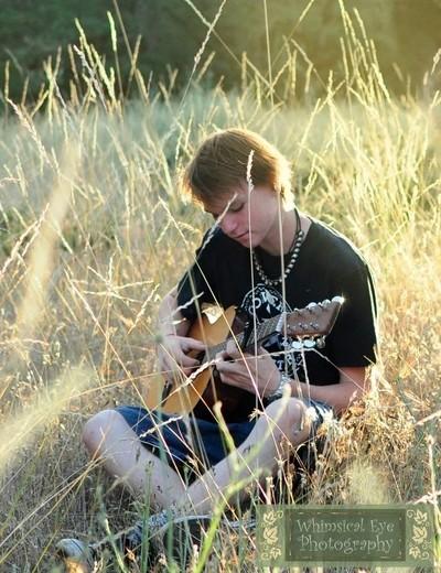 Austin and his guitar