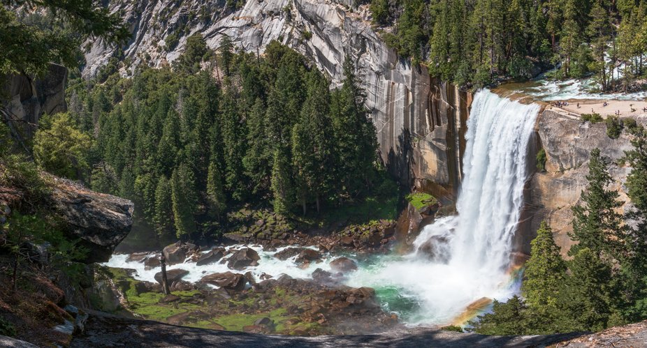After Vernal Falls we continued hiking towards the top of Nevada Falls. On they way there I looke...