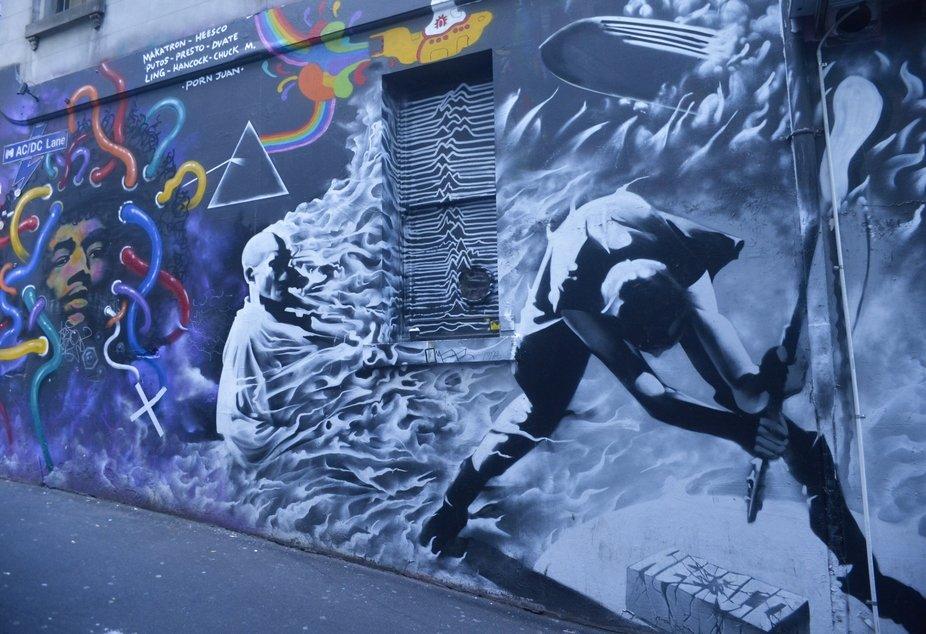 ACDC Lane street art