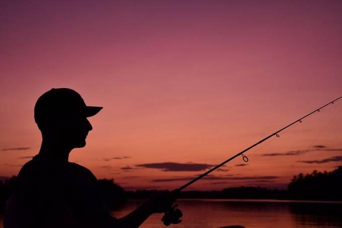 Fishing with a friend at sunset on Rainy Lake Nikon D7200 Tamron 18-400 lens