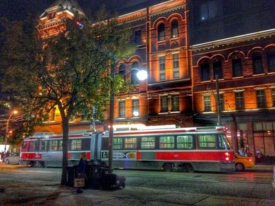 Broadview Hotel with Streetcar