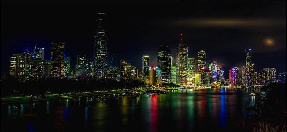 Brisbane City Skyline at Night   (copy)