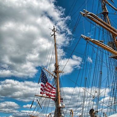 USCG Eagle docked in Salem, MA