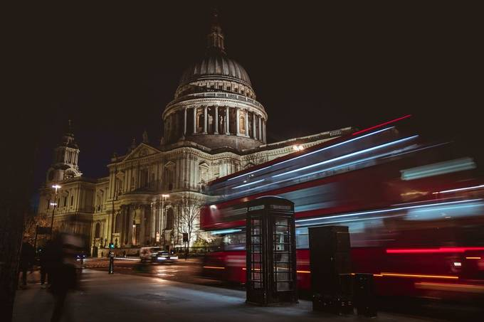 St Paul's Cathedral by lrizzodg - Light Trails Photo Contest