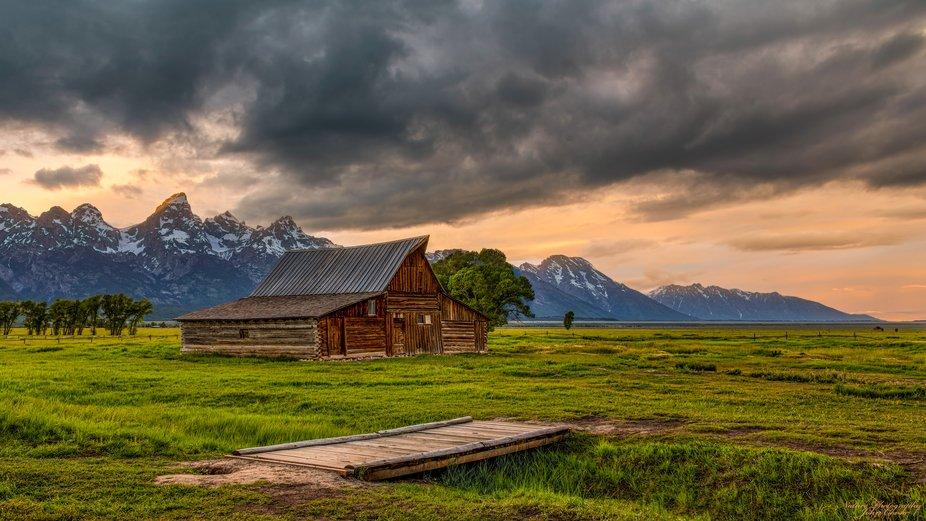 Summer Sunset at T.A. Moulton Barn Grand Teton National Park