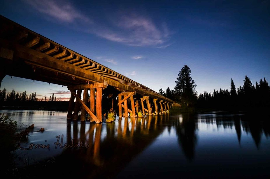 This is an old railroad bridge over the Buffalo River in Island Park, Idaho.  It was taken during...