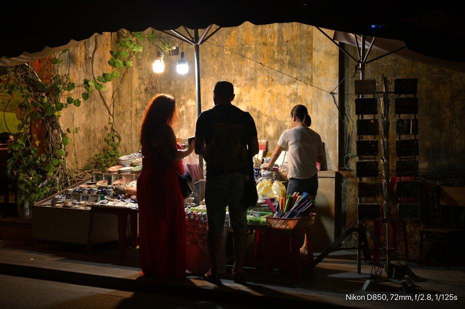 Visitors at Night Market