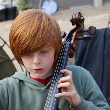 Axel playing the cello
