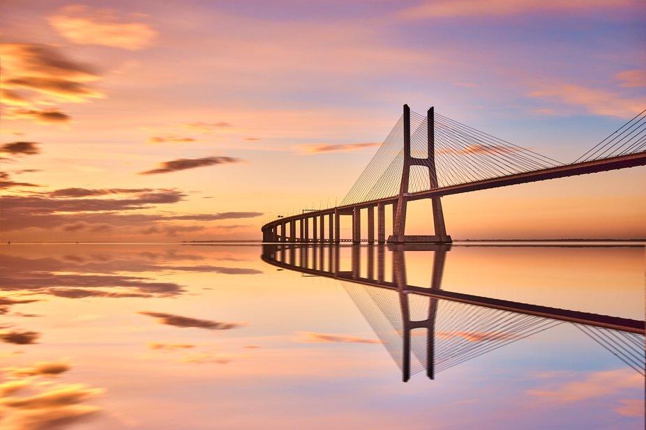 Is it impossible?  .  Vasco da Gama Bridge, Lisbon, Portugal