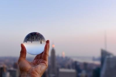 New York through the glass ball