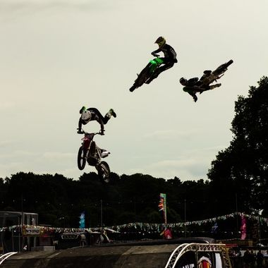 Motorcycle Stunt Show at Carfest