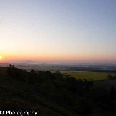 Sunrise over Shropshire from Lyth Hill