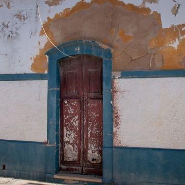 In a little street in Fuseta, Portugal