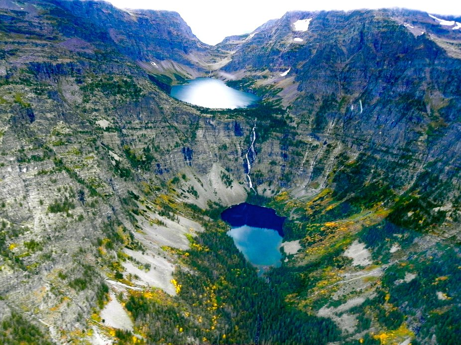 Glacier National Park View taken from helicopter- one fantastic hour ride into Glacier National Park