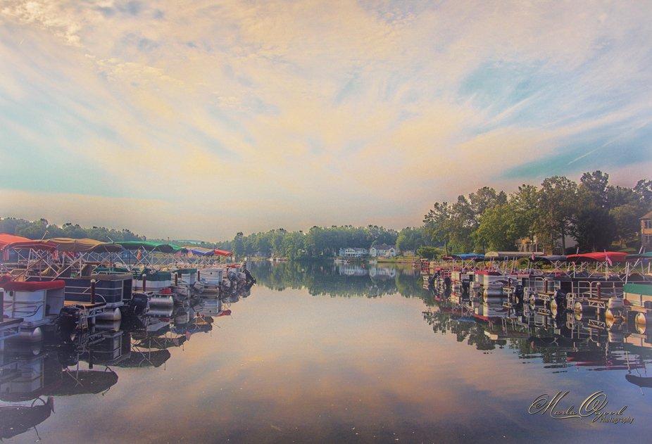 Beautiful morning on the lake.