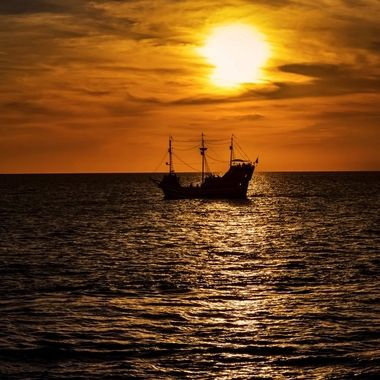 The Pirate Ship at Sunset NW