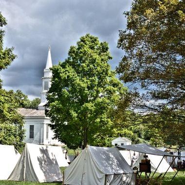Stormy encampment