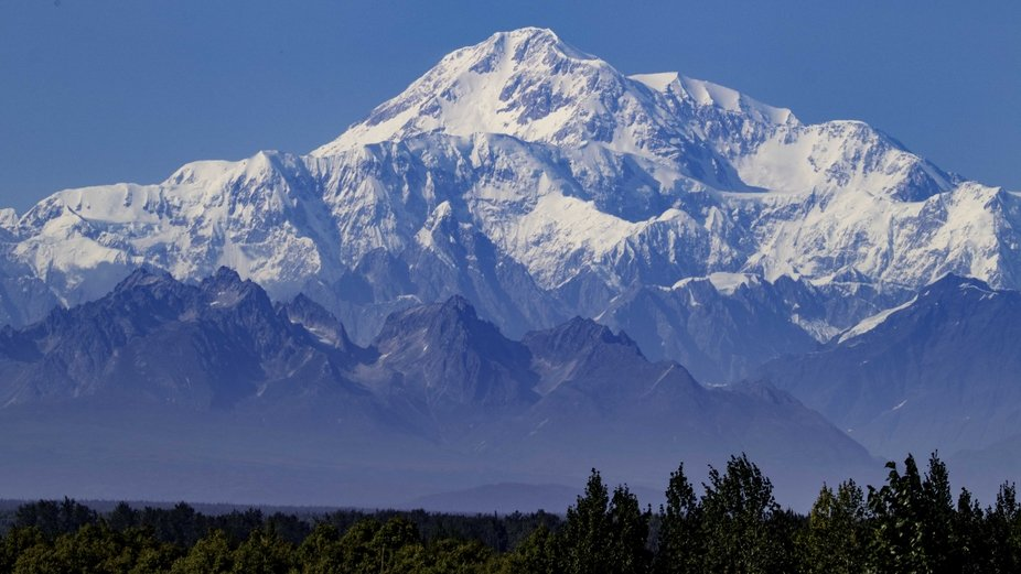This is taken from the Denali lookout in Talkeetna, AK. Denali is approx. 150 miles away.