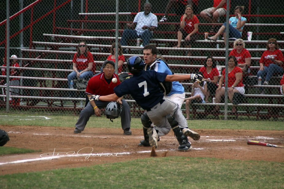 I saw this play developing before it took place so I  relocated from the 1st base foul line to th...