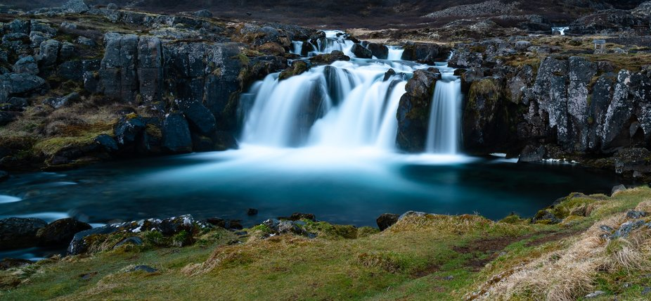 Part of the wonderful Dynjandi waterfall, Iceland.