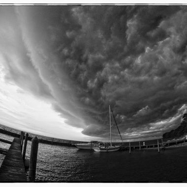 Storm on the Sound BNW fisheye