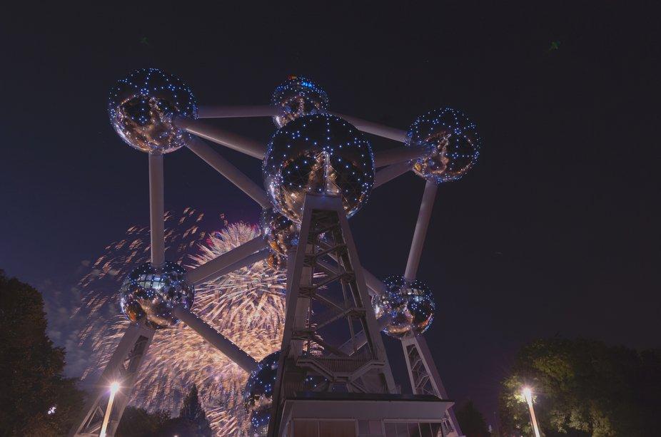 Fireworks @ Atomium Brussels