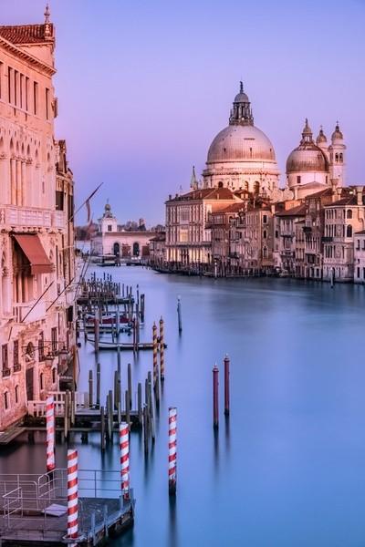 Grand Canal, Venice, Italy at dusk