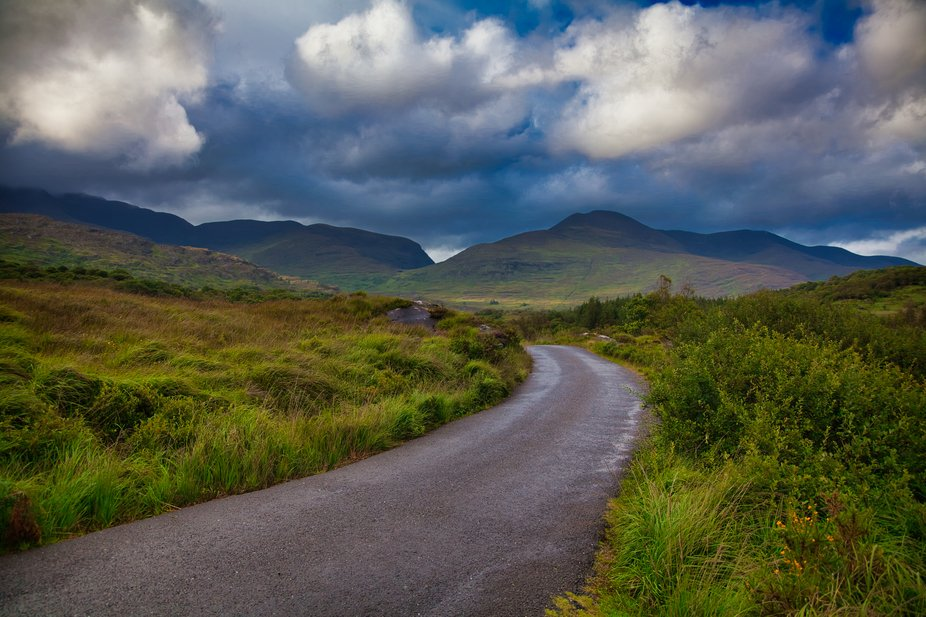 Picture taken in Ireland between Waterville and Killarney through the mountains.
