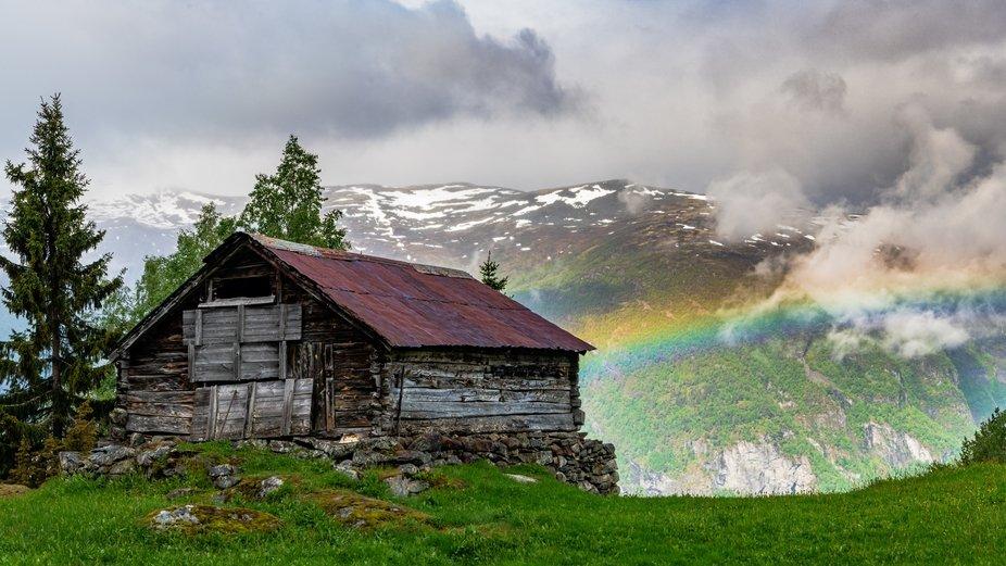 Somewhere over the rainbow, Stegastein, Norway