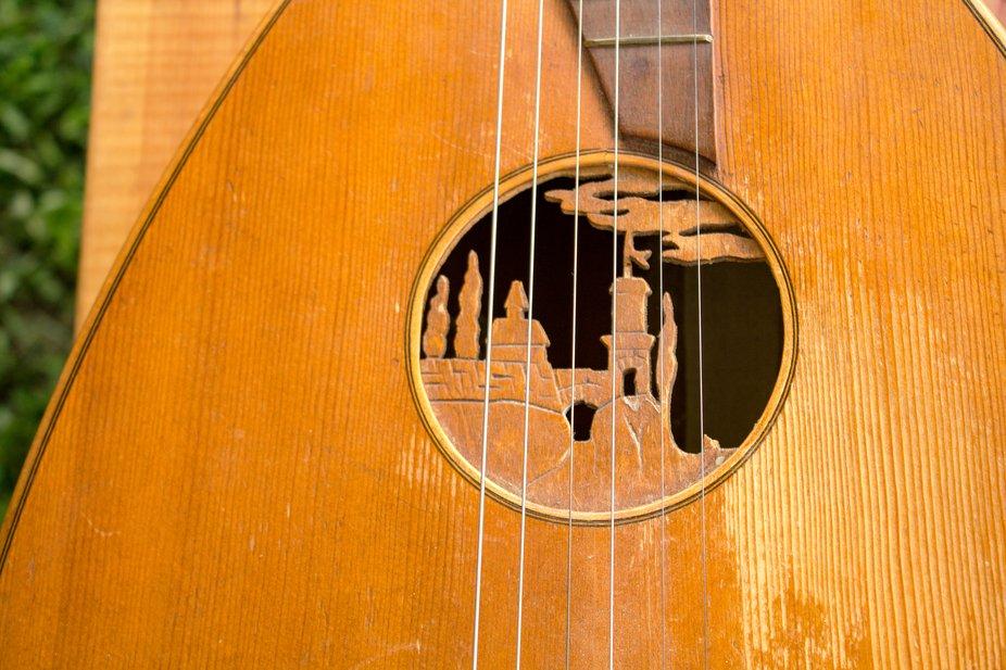 Medieval Lute Soundhole Artwork