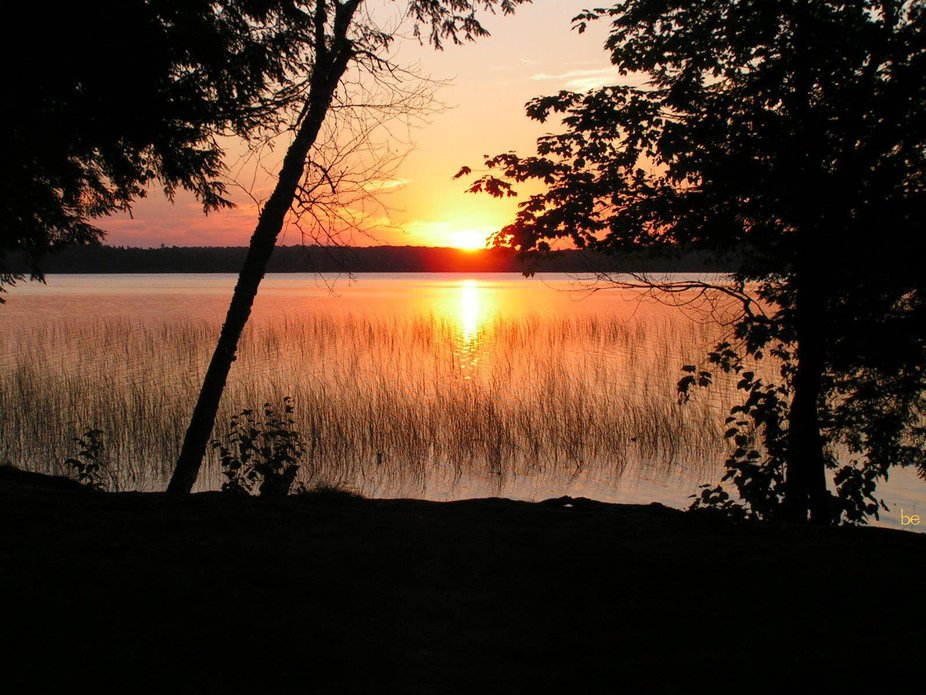 I took this photo from our campsite as the sun was setting over beautiful Perch Lake in Michigan&...