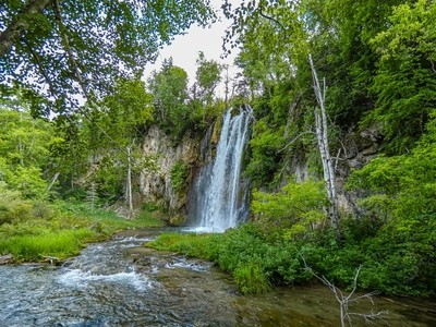 Spearfish Falls on the approach