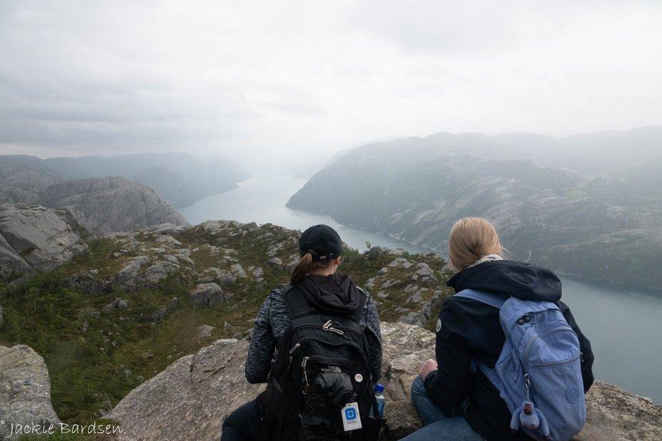 View over Preikestolen. Norway